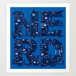 NERD HQ Art Print
