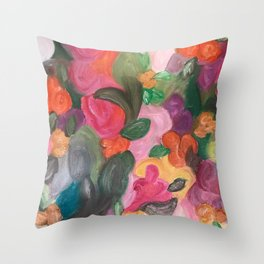 Flower World Throw Pillow