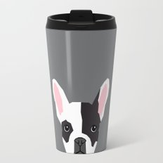 Parker - French Bulldog animal art modern colors for dog people Travel Mug