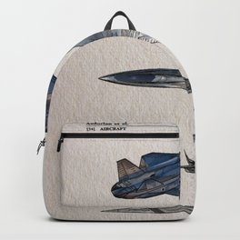 Fighter Jet Patent color Backpack