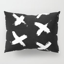 The X White on Black Pillow Sham