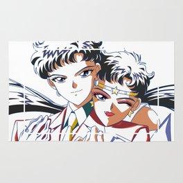 Seiya VS Sailor Star Fighter White Version Rug