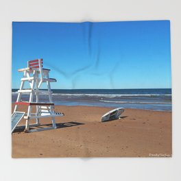 Lifeguard Tower Throw Blanket
