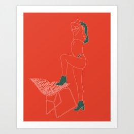 Orange-Green Art Print
