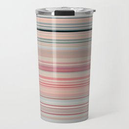 Pink Peach Pastel Stripe Design Travel Mug