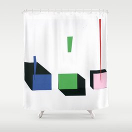 Squares in line Shower Curtain