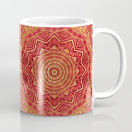 Ruby Red Mandala Coffee Mug
