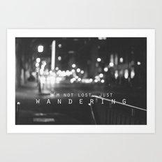 just wandering. Art Print