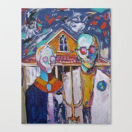 American Gothic's Nightmare  Canvas Print