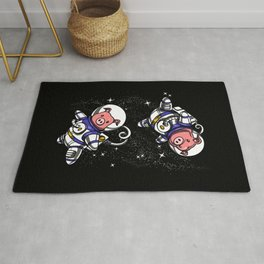 Cute Pig Space Astronauts Rug