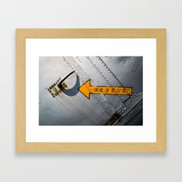 Airplane Metal Rescue Sign Framed Art Print