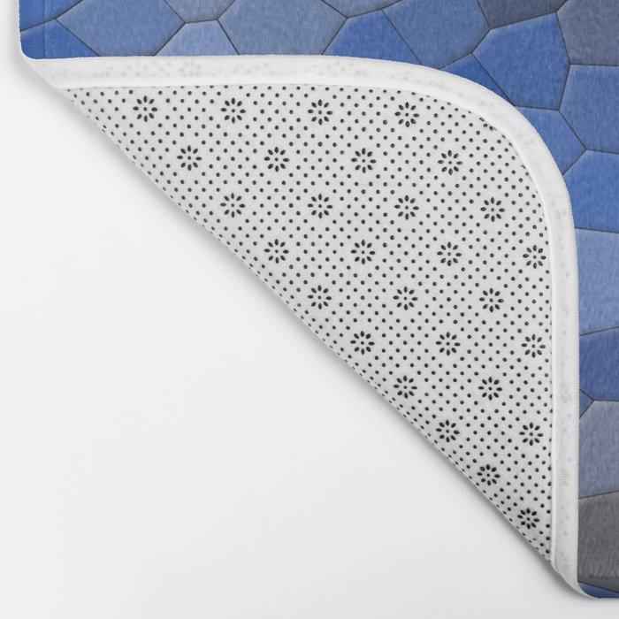 Blue mosaic tile abstract Bath Mat