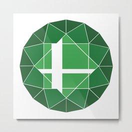 Green Logo (Updated) Metal Print