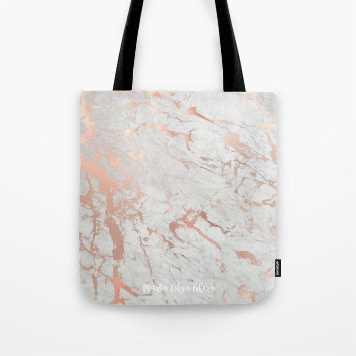 Rose gold marble Tote Bag