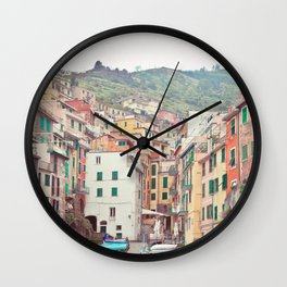 Cinque Terre - Italy Travel Photography Wall Clock