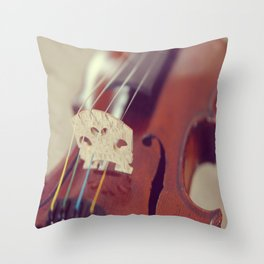 Antique Violin Throw Pillow