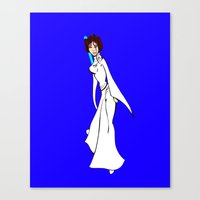 princess leia Canvas Prints featuring Leia by N. Bresner