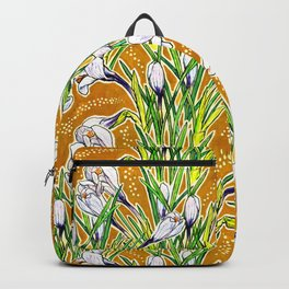 Crocuses, Marygold Yellow an Green Backpack