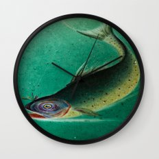 Stained Glass Fish - 1 Wall Clock