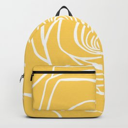 Sunshine Yellow Rose Drawing Backpack