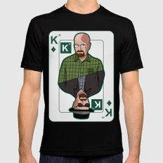 Breaking Bad: Walter White vs Heisenberg on a poker card Black LARGE Mens Fitted Tee
