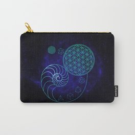 Sacred Geometry Spiral of Creation Carry-All Pouch