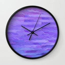 Watercolor Daydream - Purple Wall Clock
