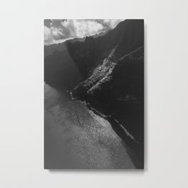Shoreline (Black and White) Metal Print