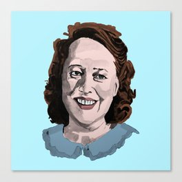 Happy Annie Wilkes - Misery  (Blue) Canvas Print