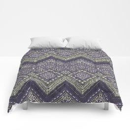 beaded chevron plum Comforters