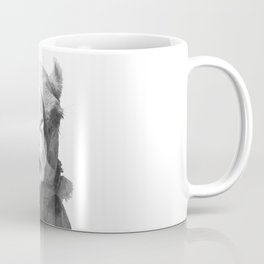 Black and White Camel Portrait Coffee Mug