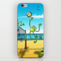 volleyball iPhone & iPod Skins featuring Olympic Volleyball Frog by Zoo&co on Society6 Products