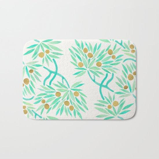 Bonsai Tree – Mint & Gold Bath Mat