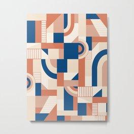 Bold Blocks #society6 #pattern Metal Print