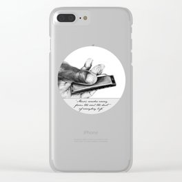 The power of music Clear iPhone Case
