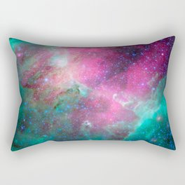Eagle Nebula in the Serpens Constellation Purple Teal Galaxy Space Rectangular Pillow