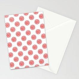 Firefighter Florian Cross Pattern Stationery Cards