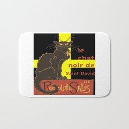 Le Chat Noir De Saint David De Rodolphe Salis Bath Mat