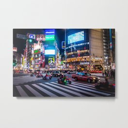 Here we go!!real mario cart at Shibuyacrossing Metal Print