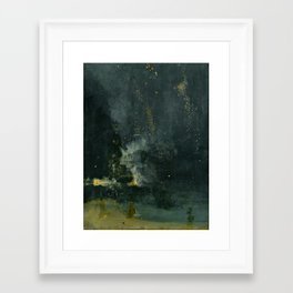 Nocturne in Black and Gold by Whistler, 185 Framed Art Print
