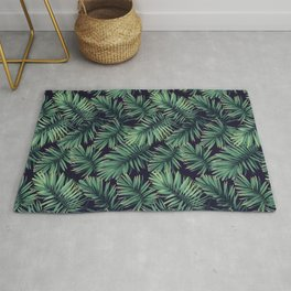 Green palm leaves Rug