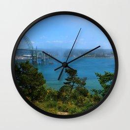 Bridge Over Calm Waters Wall Clock