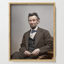 Abraham Lincoln Painting Serving Tray