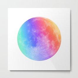 Multicolor Moon Metal Print