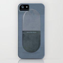 "Aldous Huxley ""Brave New World"" - Minimalist illustration literary design, bookish gift iPhone Case"