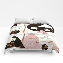 Retro Pinks and Creams Comforters