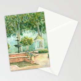 Fountain at the Square Watercolor Stationery Cards