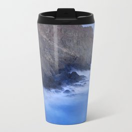 The force of the waves under the moonlight Travel Mug