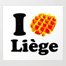 I Gaufre Liege - I waffle Liege Art Print