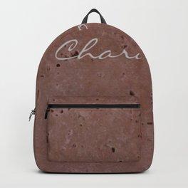 Chardonnay Wine Red Travertine - Rustic - Rustic Glam Backpack